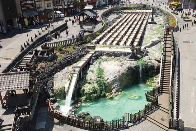 草津のシンボル「湯畑」