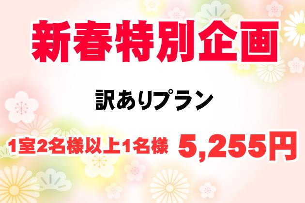 【新春特別企画】訳ありプラン ¥5,255