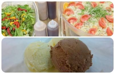 生野菜/アイスクリーム