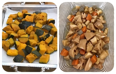栗かぼちゃうま煮/筑前煮
